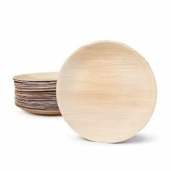 Product Image - S002501739 - Eco-Friendly Compostable Disposable Areca Palm Leaf 8inch round - 03