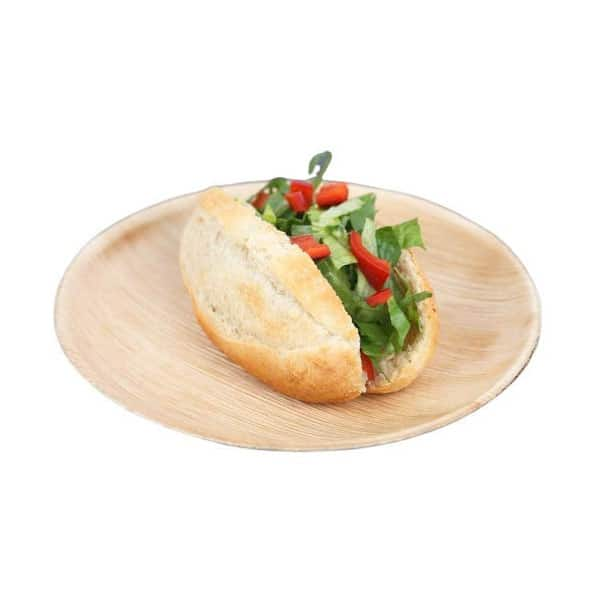 Product Image - S002501741 - 25 Eco-Friendly Compostable Disposable Areca Palm Leaf 10 inches - 02