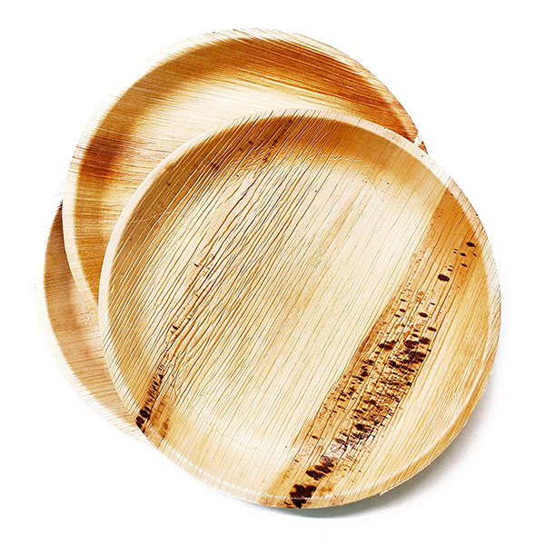 Product Image - S002501741 - 25 Eco-Friendly Compostable Disposable Areca Palm Leaf 10 inches - 03