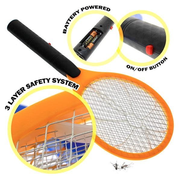 Product Image - S006507013 - Electronic Bug Zapper Swatter - Orange - 01