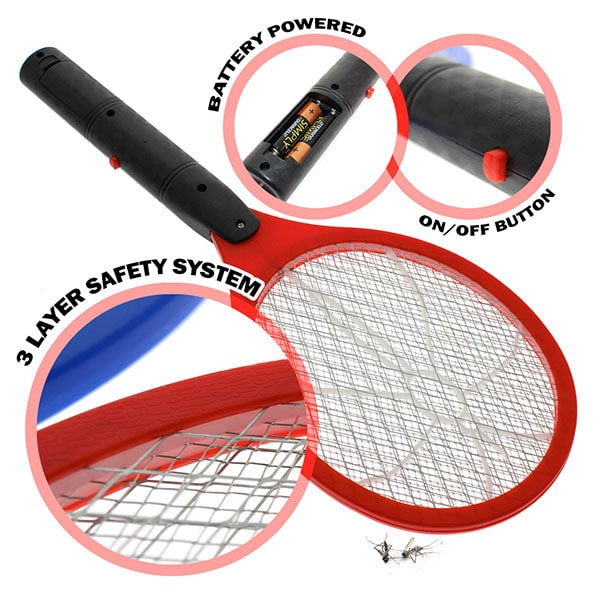 Product Image - S006507015 - Electronic Bug Zapper Swatter - Red - 01