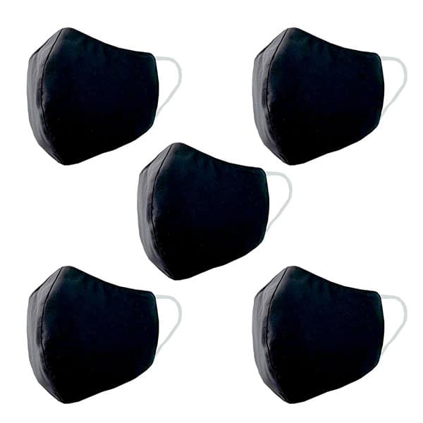 Product Image - S006540971 - 3 Ply Antibacterial Cloth Mask - Black - 02